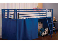 USED Sweet Dreams Razzle Twinkle Blue Single Midi Mid Sleeper Kids 3ft Bed Frame