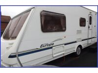 Swift Sterling 4 Berth Luxury Touring Caravan Ace Abbey Group Full Awning.