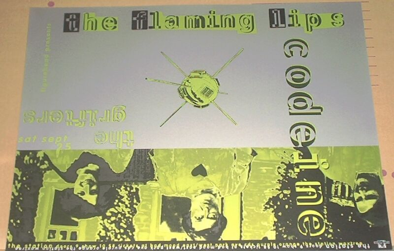 THE FLAMING LIPS Codeine Grifters 1993 LIVE POSTER Thomas Scott eye noise/no-cd