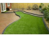 Landscape gardener builder patios decking fencing block paving astro turf artificial grass lawn turf