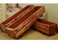 Reclaimed timber outdoor planters