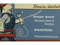 Electrician, painter, tiler and refurbishment