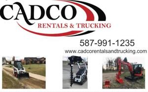 Rental Equipment with Free Delivery. We have skid steers, excavators, dump Trailers, and more.
