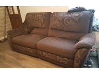 Fabric Recliner Sofa 3+2+1 Seater DFS