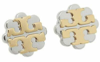 Tory Burch Women's Logo Flower Two-Tone Stud Earring - Silver/Gold