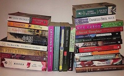 SALE!! HUGE FICTION PAPERBACK COLLECTION Lot of 25 Books Contemporary Popular