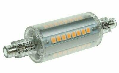 Prolite LED Lineal R7s Proyector Bombilla 6W = 60w 110V-240V 78mm 3000K...