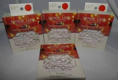 ANGE Halloween Shimmer String Lights 10' each! ~ New (Manor Halloween)