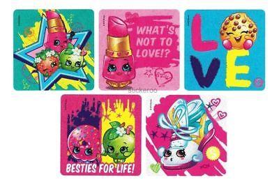 (10 Shopkins Glitter Stickers Kid Reward Birthday Party Goody Loot Bag Favor)