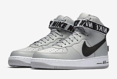Nike Air Force 1 High 315121 044 Flight Silver Black  Nba Statement Game Pack