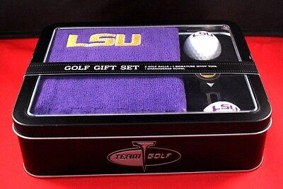 Super Fan Gift Set!  New LSU Tigers Golf Gift Set Divot Balls & Purple Towel NIB