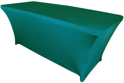 Wedding Linens Inc. 6 Ft Rectangular Spandex Fitted Table Covers Tablecloths](Spandex Table Covers)
