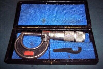 Vintage Lufkin Micrometer 1941 With Case And Tool Made Usa Free Shipping