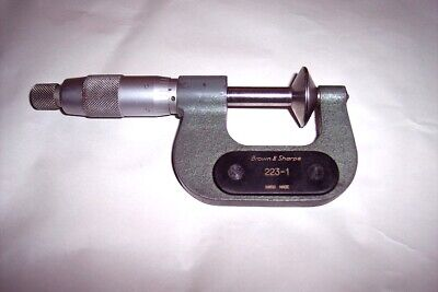 Brown Sharpe 0-1 Outside Disc Micrometer 223-1 0.001 Swiss Made