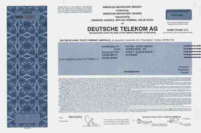Deutsche Telekom 2006 Köln New York Bundespost ZDF AFN DSL ADR Historical Share