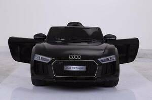 12v Licenced AUDI R8 Spyder Kids Electric Ride On Car - Black Revesby Bankstown Area Preview