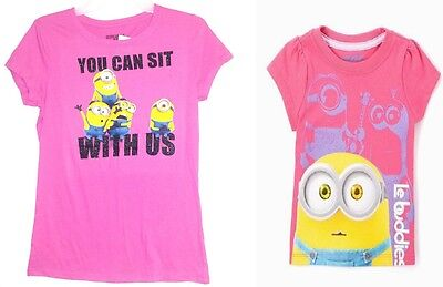 Despicable Me/Minions Girls T-Shirts 2 to Choose From Sizes 5 6 6X 14-16 - Girl Minion From Despicable Me