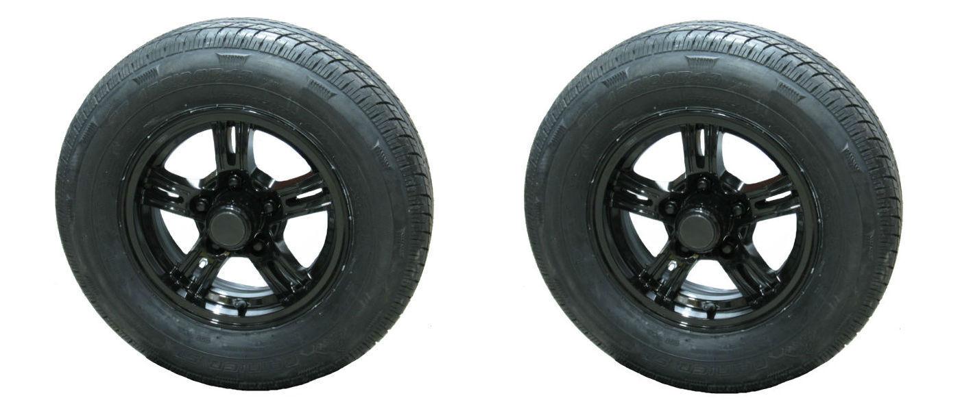 *2* Rainier ST175/80R13 LRD Radial Trailer Tires & Aluminum Wheels AM02 AB bbb