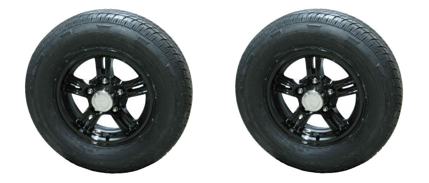 *2* Rainier ST175/80R13 LRD Radial Trailer Tires & Aluminum Wheels AM02 AB acc
