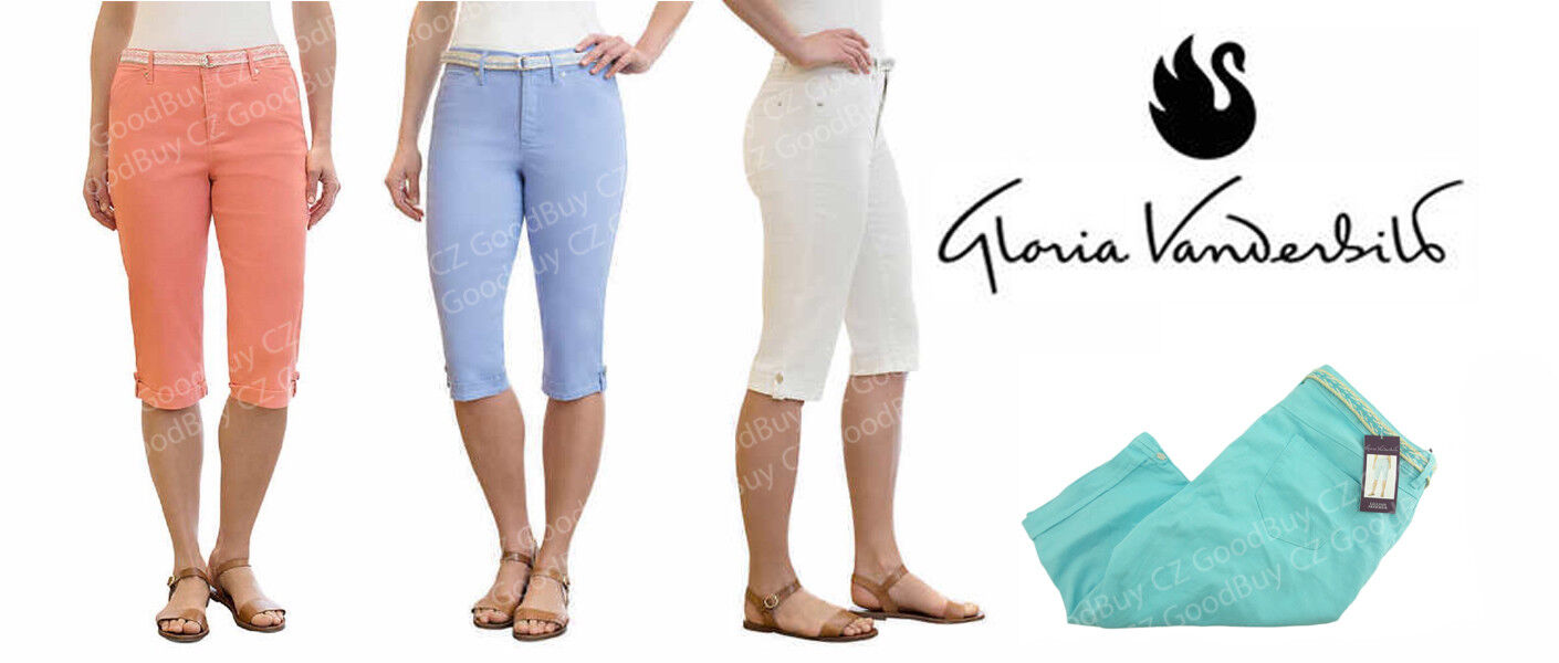 NEW Gloria Vanderbilt Women's Lillian BELTED Skimmer CAPRI P