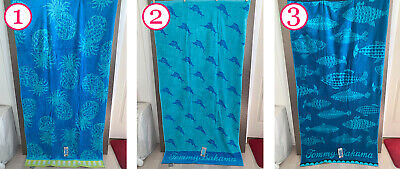 French Beach Towel - NEW TOMMY BAHAMA Blue Fish Pineapple French Terry Beach Pool Cotton Towel 36x68