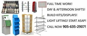 DISPLAY BUILDER JOB IN MILTON! DAYS AND AFTERNOONS!!