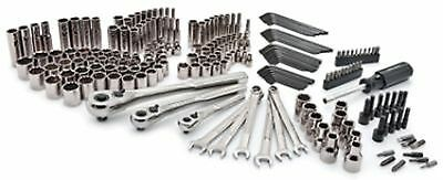 Craftsman 220pc Mechanics Tool Set with Case 1 4 in. 3 8 in. and 1 2 in. Tools and Accessories