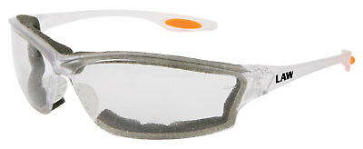 Crews Law 3 Safety Glasses with Clear Anti-Fog Lens