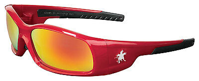 Mcr Crews Swagger Sr13r Red Frame Fire Mirror Lens Safety Glasses New