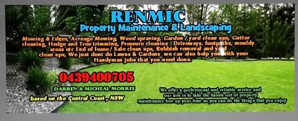 Renmic Property Maintenance , Landscaping & lawn mowing experts Mangrove Mountain Gosford Area Preview