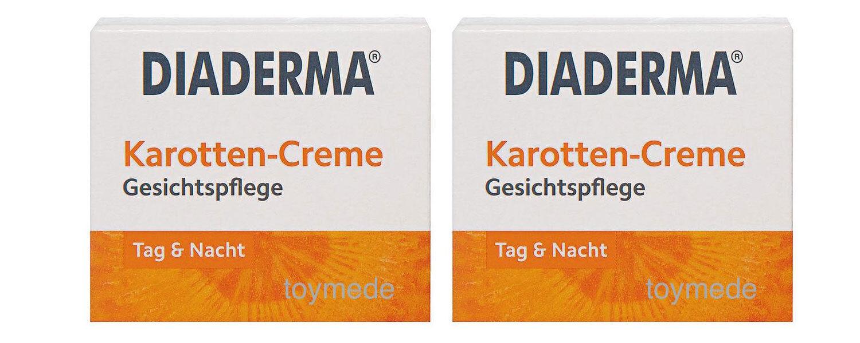 2x50 ml DIADERMA Karotten-Creme GLÄTTEND+REGENERIEREND Carrot Cream