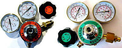 Propane Or Acetylene Oxygen Regulator Set 3 Inch Gauges - Torch Welding