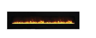 Amantii Wall Mount / Flush Mount Series Electric Fireplace with Ember Media 88""