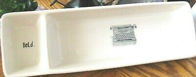 New Rae Dunn Green Vintage Typewriter Hold Journalist Writer Desk Organizer