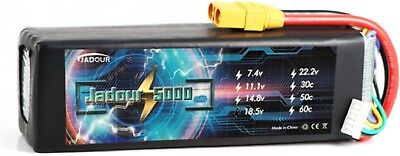 JADOUR LIPO BATTERY 5S 18.5V 5000MAH XT90 PLUG 50C RC HELICO