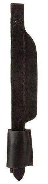 Australian Saddle Wide Leather Fender Stirrups - Regular or Long - Black - Brown