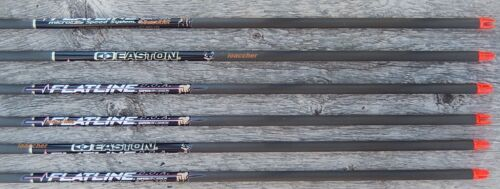 FLATLINE EASTON CARBON SHAFTS WITH NOCKS AND INSERTS