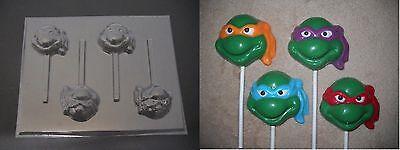 TMNT Teenage Mutant Ninja Turtle Face Lollipop Chocolate Candy Soap Mold - Ninja Turtle Face