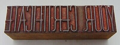 Printing Letterpress Printers Block Your Certificate Thin Letters