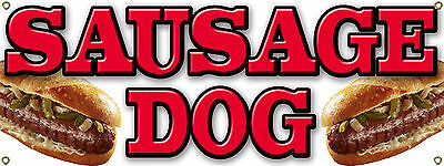Sausage BANNER SIGN Dog Peppers For Food Cart - Carnival - Festival Fair