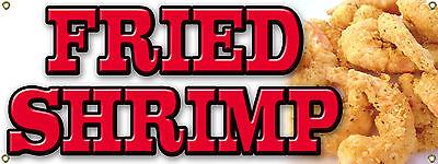 Custom Fried Shrimp Banner Sign For Food Cart - Carnival - Festival - Fair