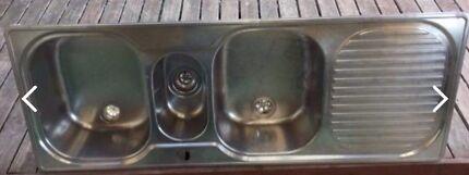Franke 2.5 bowl stainless steel sink