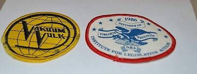lot 2 patches NRA Defender of firearms freedom Vakuum Vulk advertisement