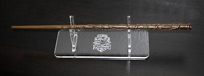 Custom logo engraved Acrylic Harry potter Magic Wand Stand - Hogwarts crest - Custom Magic Wands