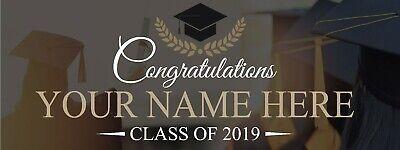 Personalized Graduation Photo Background Banner Class 2019 3' x8' Personalized Graduation Photo