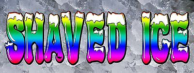 Shaved Ice Banner 18x48 Free Shipping Customization Ready To Hang