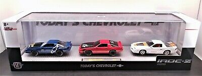 M2 Machines Today's Chevrolet IROC-Z28 3 Car Set Limited Edition MIMB Muscle