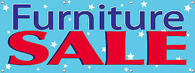 FURNITURE SALE SIGN BANNER 3X8 ft Multi Color New 96in x 36in ()