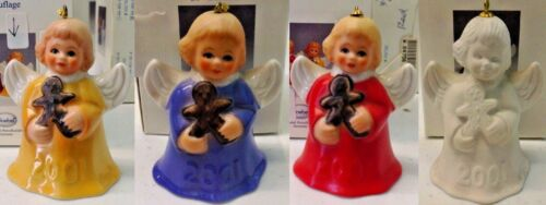 Goebel | 2001 ANGEL BELL ANNUAL CHRISTMAS TREE ORNAMENT *NEW* 26TH ED. 4 COLORS