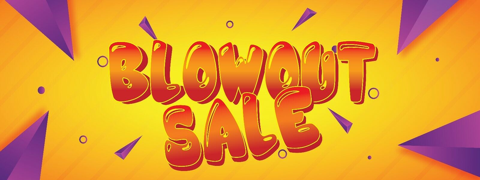 """/""""BLOW-OUT SALE/"""" super flag banner advertising sign blow out"""